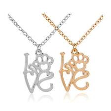 Halskette Pet Love silber gold Tatze Anhänger Pfote Katze Hund Dog Liebe