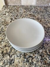 "Set Of Six (6) IKEA 10866 Beige/Tan 8"" Salad/Dessert Plates - NEAR MINT"