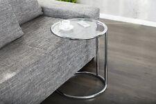 Design Beistelltisch Couchtisch DECOLORE Original Metall Glas Chrom 55cm Neu !!!