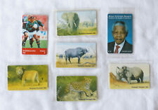 1990s South Africa phone cards lot, mint – Big 5, Mandela, Rugby World Cup