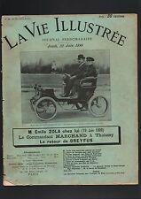 N°2003 bis / le comte DE DION et Emile ZOLA  dans LA VIE ILLUSTREE  2 juin 1899