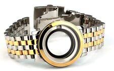 Edelstahl Uhrengehäuse mit Uhrband für ETA 2824-2 Gehäuse bicolor