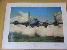 """Return To Framlingham"" B-17 G US Flying Fortress SIGNED Print 390th Bomb Group"