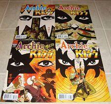 Archie Meets KISS 627 628 629 630 Variant Edition Full Set 1st Prints RARE