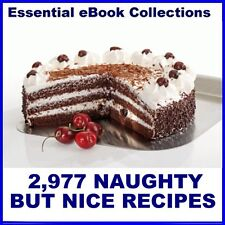 """2,977 """"NAUGHTY BUT NICE"""" RECIPES on CD-ROM - eBook for Kindle, iPad, PC, etc"""