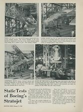 1951 Aviation Article Boeing B-47 Straojet Bomber Structural Tests B-47B Photos