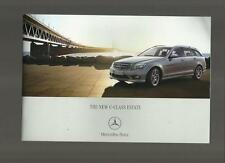 MERCEDES BENZ NEW C-CLASS ESTATE ELEGANCE SE & SPORT SALES BROCHURE OCTOBER 2007