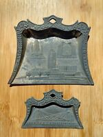 Chicago World's Fair Crumb Catcher Trays Set of (2) 1933-34 Vintage N Shure Co