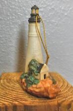"Vintage Bisque Light House Ornament Key West Florida Hand Painted 3.5"""