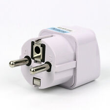 US USA UK To EU Euro Europe AC Power Plug Converter Travel Adapter Charger New