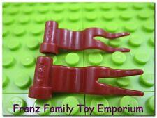 LEGO Lot of 2 Dark Red  4x1 Flag Minifig Wavy Castle Viking Knight Kingdom Part