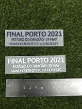 Final Porto 2021 Match Details Patch Soccer Badge Heat Transfer Parches