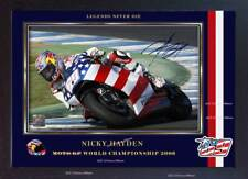 Nicky Hayden autograph print signed photo picture FRAMED (MDF)