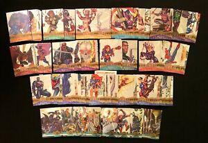 1995 FLEER MARVEL METAL SILVER FLASHERS CARD SINGLES YOU CHOOSE FLASHER CARDS