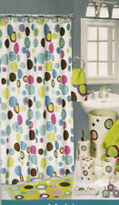 "Bubble Gum Fabric Shower Curtain 70"" x 72"" colorful fun  circles multi color"