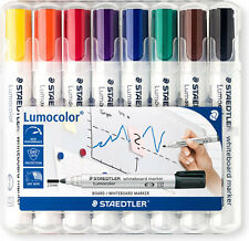 STAEDTLER Lumocolor Lavagna Marker Set Di 8 PUNTA PROIETTILE (2.0mm)