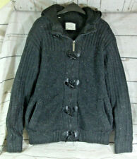 Brave Soul Knitted Cardigan Style Hooded Jacket Coat Size L