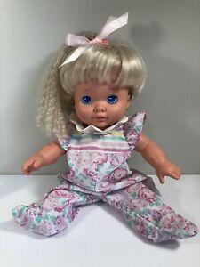 VTG 1988 Playskool Baby Dolly Surprise Growing Hair Blonde Doll Toy