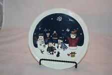 St Nicholas Square Snow Friends Collection Snowman Christmas Trivet EUC