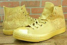 Converse Chuck Taylor All Star High Top Laser Tech Gold/Wheat Size 10 - 155182c