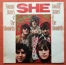 TOMMY JAMES AND THE SHONDELLS-SHE/LOVED ONE RARE ITALY 7' PS 1969 UNIQUE COVER
