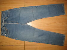 7866 used blue levi's 501 high waist jean stonewash 30x30 for women made in USA