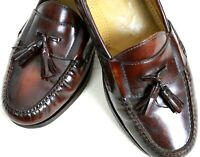 COLE HAAN Loafer  Cordovan Ox Blood Tassel All Leather Made In Italy 111/2 D