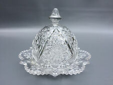 Antique Imperial Glass Co. clear pressed butter or cheese dish FOUR-SEVENTY-FOUR