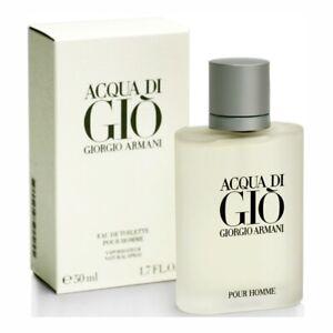 ACQUA DI GIO POUR HOMME Giorgio Armani Men 1.6/1.7 oz (50 ml) EDT Spray * SEALED