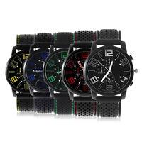 Men's Fashion Black Stainless Steel Luxury Sport Analog Quartz Wrist Watch LK
