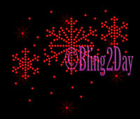 Winter Snowflake - COLOR - Rhinestone Iron on Transfer Hot Fix Bling Christmas