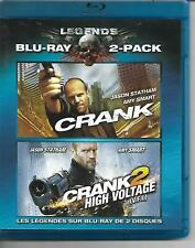 Crank and Crank 2 Bluray! 2 Disc Set! Jason Statham! Amy Smart! Action Thriller!