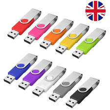 USB Memory Stick USB 2.0 Flash Drive Bulk Stick Swivel U Disk 1/2/16/32/64GB Lot