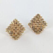 14KYG IMPERIAL GOLD DIAMOND SHAPED EARRING 3.15G (ID: 33248-5 )