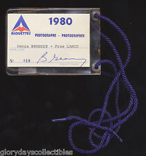 1980 Denis Brodeur CFL Montreal Alouettes Photo Pass Vtg Football Auto Bob Geary
