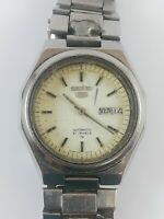 Vintage SEIKO 5 7009-8331 Automatic 21 Jewels Japan Watch Not Working
