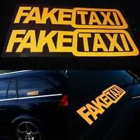 "Removable 2pcs "" FAKE TAXI "" Car Sticker Decal Emblem Self Adhesive Vinyl DIY"