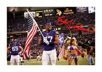 Everson Griffen (1) NFL Minnesota Vikings A4 signed poster. Choice of frame.