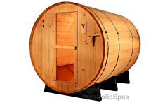 NEW 8' Ft Canadian Red Cedar Barrel Sauna WET / DRY SPA  6 Person Size!  Outdoor