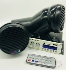 Yamaha Jetski 2 Speaker Pod Kit Stereo Amp Bluetooth Universal Fit Kawasaki