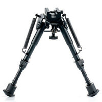 6- 9Inch Adjustable Tactical Rifle Bipod Spring Return with Adapter for Hunti ^P
