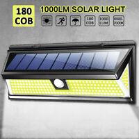 1000LM 180 COB LED Solar Wall Light Outdoor Garden Security Lamp Motion Sensor K
