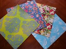 Lot Various Gift Wraps different lengths 70s era birthday floral shower VTG