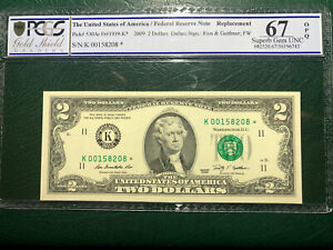 2009 $2.00 FRN K00158208* PCGS 67Q