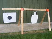 TommyGun Pistol Rifle Shooting Target AR500 Gong Stand Kit Hang Your Steel DIY