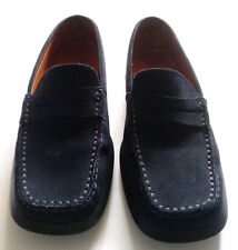 TOD'S WOMEN'S SUEDE LOAFERS MARIE-CLAIRE NAVY BLUE Sz 7