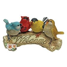 Bird Welcome Statue Garden Figurine Decor Patio Lawn Yard Outdoor Home Gift NEW