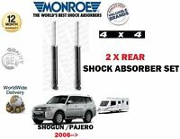 FOR MITSUBISHI SHOGUN PAJERO 2006 > NEW 2 X REAR TOWING SHOCK ABSORBER SET