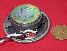 """K Arrow 2"""" Speaker 8ohm .5W, SMALL 50 x 16mm Ceramic Magnet WATT Round w Leads"""