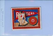 1909 T51 Rutgers Scarlet Knights MURAD Tobacco College Series Card Track & Field